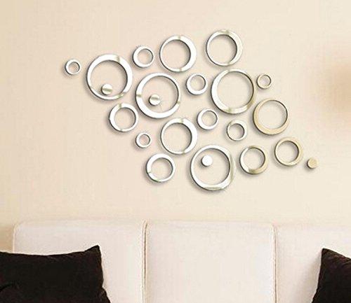 Moderne Kreis Spiegel 3d Spiegel Wandtattoo Wanddeko