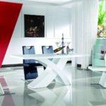 Hochglanz Wohnzimmertisch Tisch Hochglanztisch weiss 160x90cm Esstisch