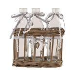 Romantischer Flaschenhalter inkl. Flaschen + Deko