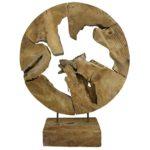 Teak Abstrakte Skulptur Teakholz massiv Dekofigur Wurzel Handgeschnitzt - Jede Holzskulptur ein Unikat