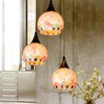 Pastoral Shell Kronleuchter Bar-Restaurant minimalistisch modernen Wohnzimmer-Lampe Beleuchtung Lampen Schlafzimmer