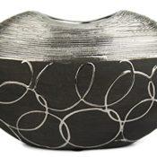 Design Vase schwarz / Stil - Modern / Keramik / Handmade / 18 x 12 x 8 cm