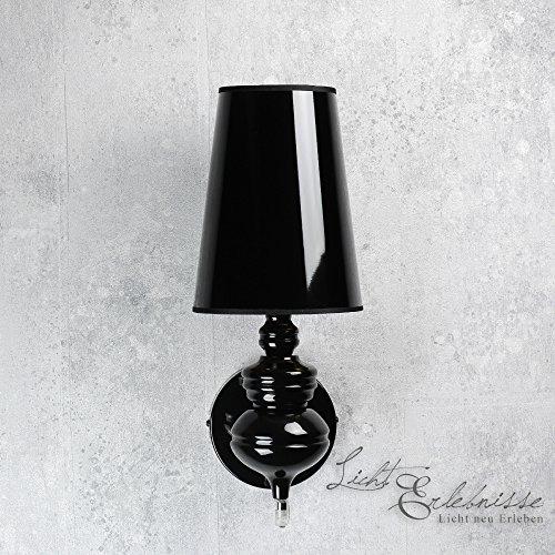Design Wandleuchte in schwarz gold Innen E27 230V Wandlampe für ...