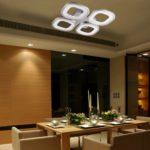 Lu-Mi® LED Deckenleuchte Pendelleuchte Höhenverstellbar Küchen Wohnzimmer Designleuchte Deckenlampe Schlafzimmer Modern (Deckenleuchte - Voie PD4)