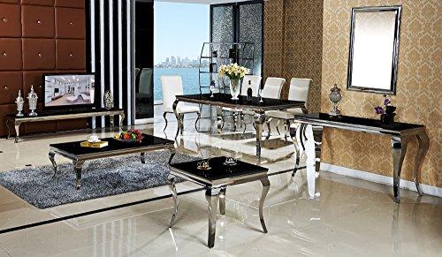 Couchtisch Wohnzimmertisch Luxus Aura 130 X 70 X 42 Cm Weiss Barock