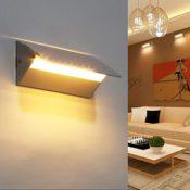 amzdeal Wandlampe Wandleuchte 10 LED Dimmer Lampe 4W Warmweiß
