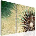 Bilder SENSATIONSPREIS !!! -2066339a- XXL Bild 120x80 cm !!! 100 % MADE IN GERMANY !!! Wandbild Bild auf Vlies Leinwand, Pustenblume, XXL Format - Fertig Aufgespannt - TOP - Leinwand - Kunstdruck - Vintage Art Natur grün