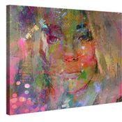 Thoughtful Girl - Premium Kunstdruck Wand-Bild - 100x75cm XXL Leinwand-Druck in deutscher Marken-Qualität - Leinwand-Bilder auf Holz-Keilrahmen als moderne Wohnzimmer-Deko