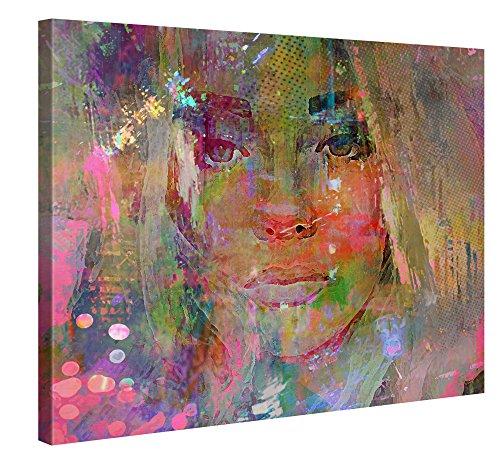 Thoughtful Girl - Premium Kunstdruck Wand-Bild - 100x75cm XXL ...