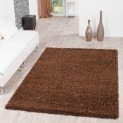 Shaggy Teppich Hochflor Langflor Teppiche Wohnzimmer Preishammer versch. Farben, Farbe:braun;Größe:160x220 cm