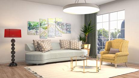 Wohnzimmer im Vintage Style liegen voll im Trend. Hier gibt ...