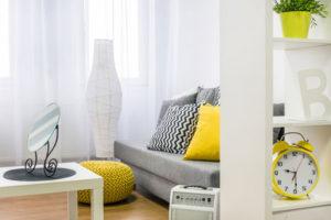 Moderne Wohnzimmervorhänge
