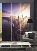 Wohnzimmervorhang SKYLINE Digitaldruck