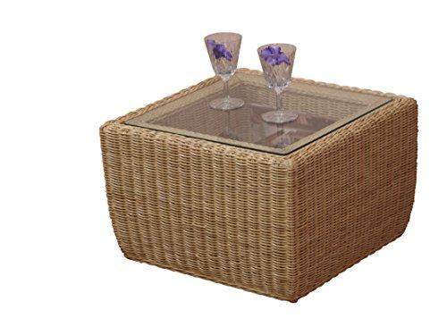 moebel direkt online beistelltisch rattantisch tisch mit glasplatte sicherheitsglas. Black Bedroom Furniture Sets. Home Design Ideas