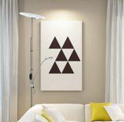 Deckenfluter mit Leselampe LED