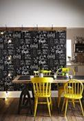 Vlies Tapete für die Küche schwarz