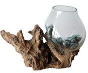 Wurzelholz mit Vase