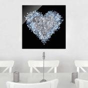 Glasbild - Herz